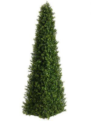 4' Triangular Boxwood Topiary Two Tone Green