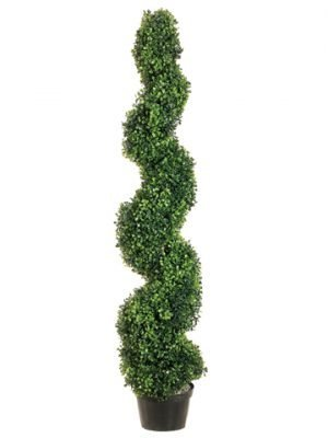 4' Pond Boxwood Spiral Topiary in Plastic Pot Green