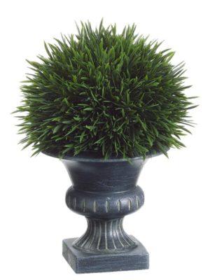 9in GRASS IN PLASTIC URN GR