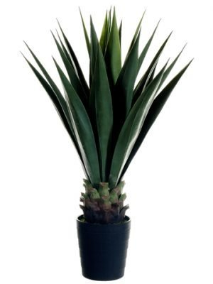 "41"" Sisal Plant in BlackPlastic PotGreen"