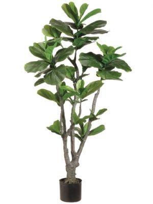 4' Fiddle Leaf Fig Tree withPU Trunk in Plastic PotGreen