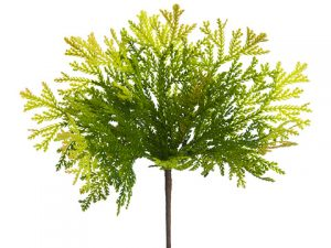 "11"" Soft Plastic Spring Cedar Bush Two Tone Green"