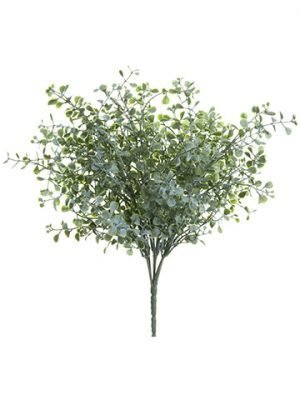 "11"" Mini Eucalyptus Bush Green Gray"