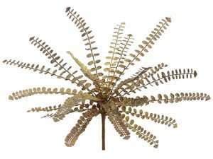 "12.25"" Button Fern Bush Green Rust"