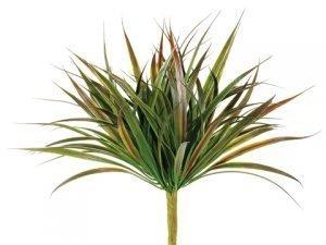 "12"" Plastic Yucca Fern Bush x9 Green"