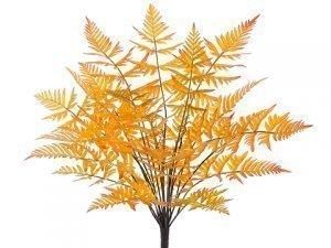"21"" Leather Fern Bush x23 Orange Yellow"