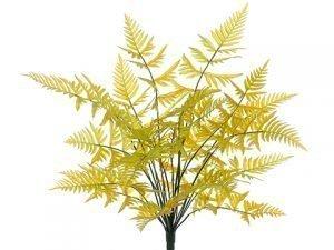 """21"""" Leather Fern Bush x23 Yellow Moss"""