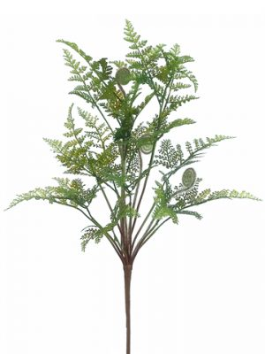 "18"" Rabbit Fern Bush Green"