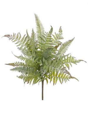 "18"" Soft Plastic Mixed Fern Bush Green Gray"
