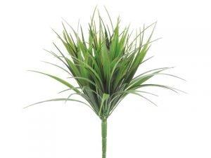"12"" Vanilla Grass Bush with98 LeavesGreen Red"