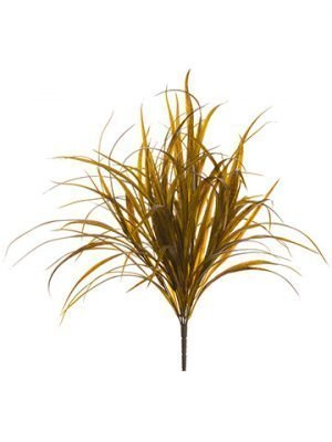 "18"" Plastic Grass Bush x9 Brown"