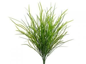 "18"" Wild Willow Grass Bush with 204 Leaves Green Dark"