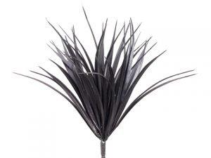 "12"" Vanilla Grass Bush with44 LeavesBlack"