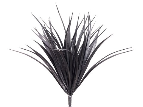 "12"" Vanilla Grass Bush with 44 Leaves Black"