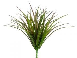 "12"" Vanilla Grass Bush with44 LeavesGreen Brown"