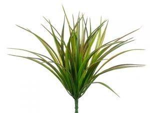 "12"" Vanilla Grass Bush w/44LeavesGreen Red"