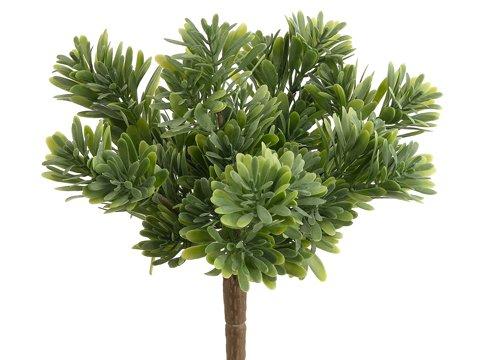 """9"""" Plastic Succulent GrassBush x7Green"""