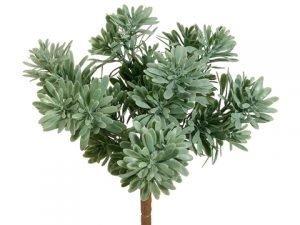 "9"" Plastic Succulent GrassBush x7Frosted Green"