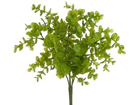 "13"" Soft PE Eucalyptus Bush x5 Light Green"
