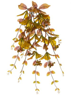 """32"""" Fall Leaf Bush With Berry Brown Green"""