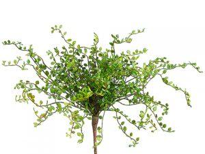 """15"""" Button Leaf Bush Green"""