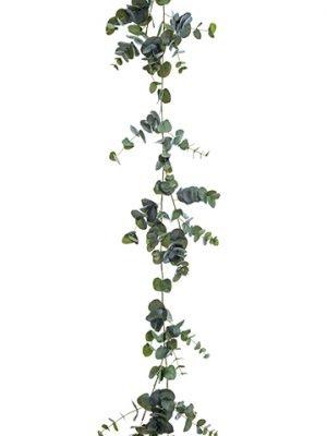 6' Round Eucalyptus Garland Green Gray
