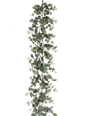 6' Eucalyptus Garland Green