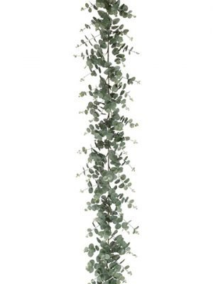 6' Eucalyptus Leaf Garland Green Gray