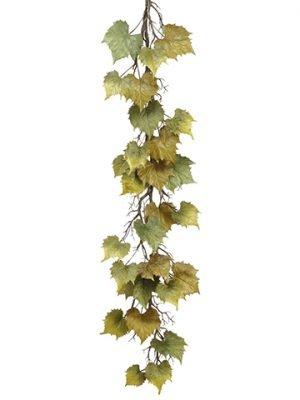 """60"""" Grape Leaf Garland Twotone Green"""