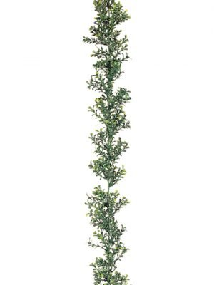 6' Plastic Boxwood Garland x300 Two Tone Green