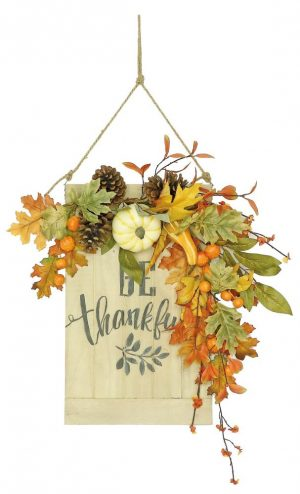 Be Thankful Harvest Pumpkin Wall Decor