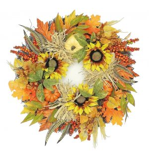 Harvest festival wreath and garland set