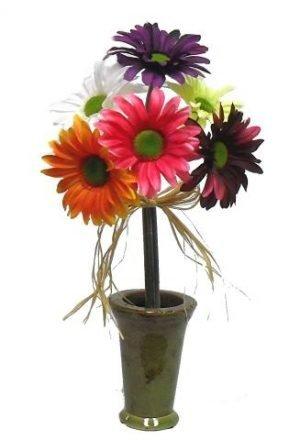 16-inchgerbera daisy in ceramic pot