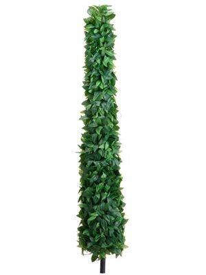 "54"" Laurel Leaf Cone Topiary on Stem Green"