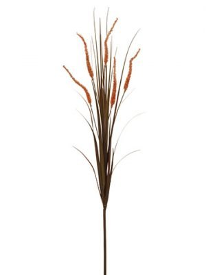 "48"" Pampas Grass Spray Orange"