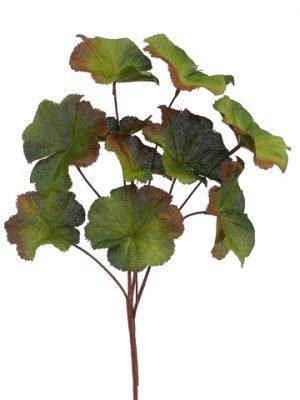 """16"""" Burlap Geranium LeafSprayGreen Burgundy"""