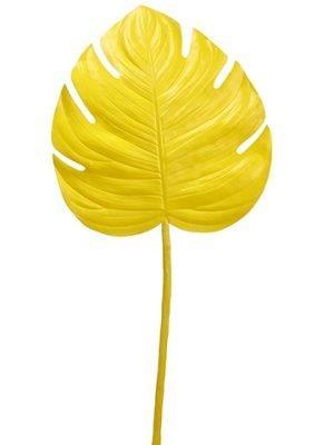 """43"""" Monstera Leaf SprayYellow"""