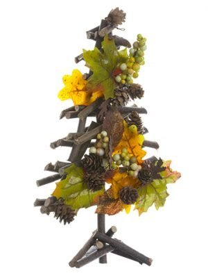 "12"" Maple/Oak/Berry/Cone Twig Tree Green Brown"