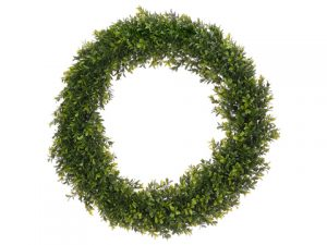 "24"" Round Boxwood Wreath Two Tone Green"