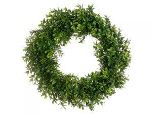 "17"" Boxwood Wreath Two Tone Green"