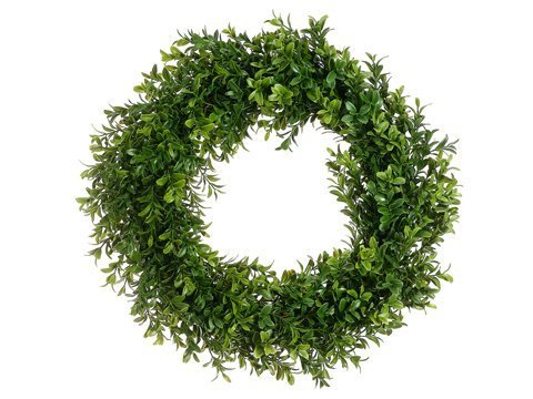 "17"" Boxwood Wreath Two Tone Green"