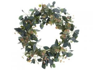 "24"" Mixed Eucalyptus Wreath Green Gray"