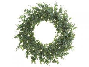 """45"""" Eucalyptus Wreath Green"""