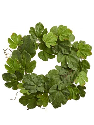 "30"" Fig Leaf Wreath Green"