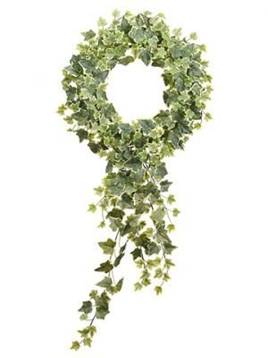 "22""Dx36""L English Ivy Wreath With Trailer Variegated"