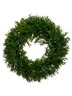 "14"" Tea Leaf Wreath Green"