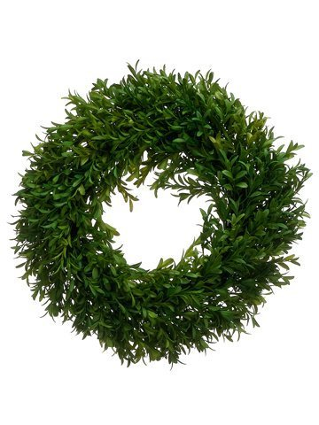 "14"" Tea Leaf Wreath Green"