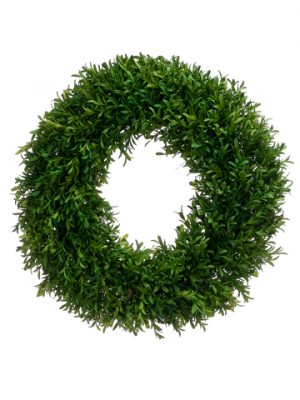 "18"" Tea Leaf Wreath Green"
