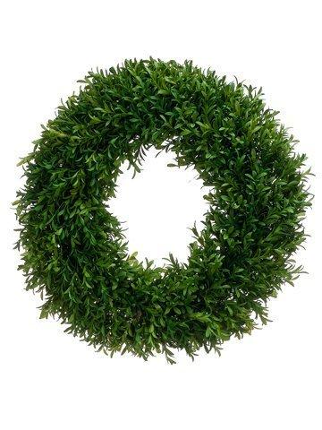 "18"" Tea Leaf Wreath Green"