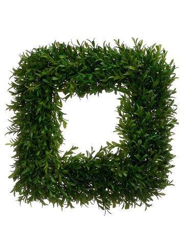 """14""""W x 14""""L Tea Leaf SquareWreathGreen"""